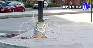Ένα «ποδήλατο-φάντασμα» στο Villeray στην μνήμη του Louis Morency που σκοτώθηκε πριν από εννέα χρόνια